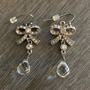 Lia Sophia Bow Drop Earrings.